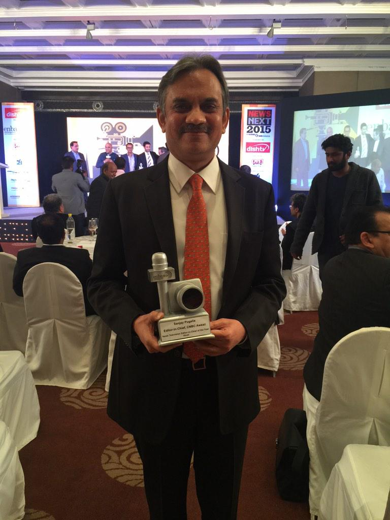 "CNBC-AWAAZ on Twitter: ""editor in chief of the year at the ..."