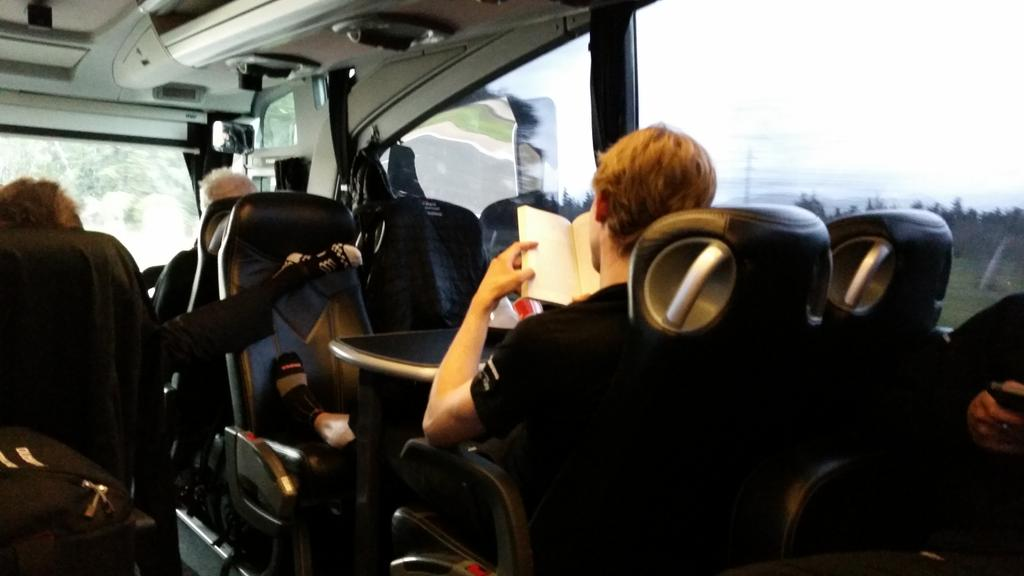 "With @thejensie ""gone"", we had to find a new scholar who reads on the bus! @BaukeMollema is taking his place for now. http://t.co/WsSUlBjqXn"