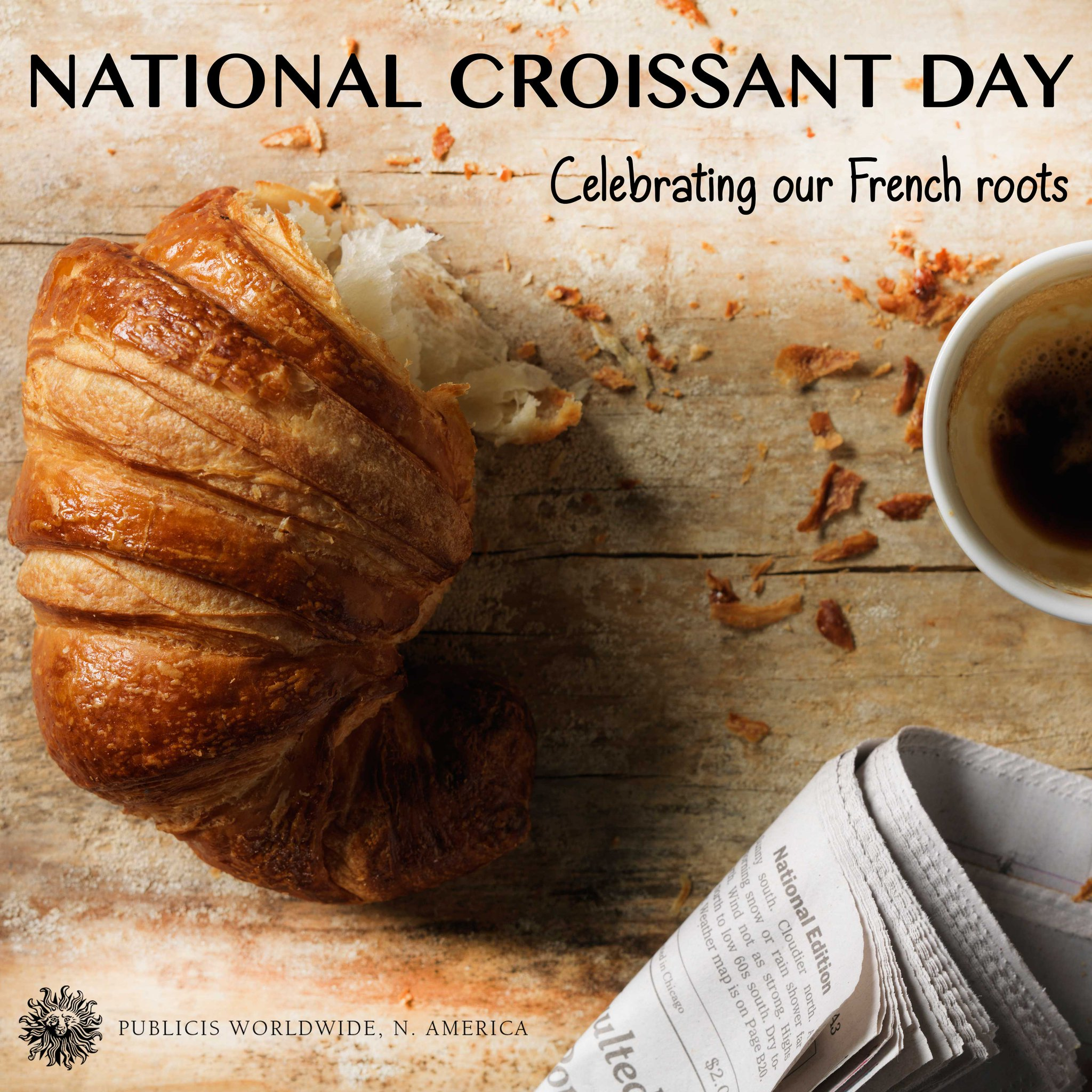 Mais, bien sûr! We're French after all, so we're celebrating #NationalCroissantDay and all its buttery goodness! http://t.co/0X4yBGjhGr