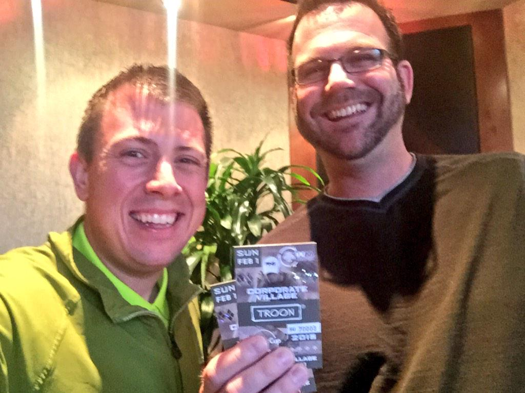 Fun giving away tickets to the @WMPhoenixOpen. Today's winner is @DaddyBookins. Have fun on Sunday! #greenestshow http://t.co/SS402XkB3a