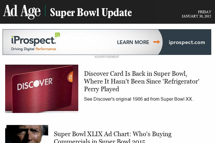 Discovery and Schechers are in, McD and Avocados ads are up: It's time get #SuperBowl Updates http://t.co/9GLkcHQu3k http://t.co/wid9peCDJv