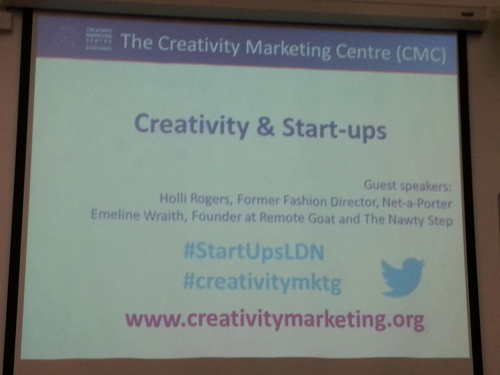 "We will start shortly the forum on ""Creativity &Start-ups"" Follow our event #StartUpsLDN #creativitymktg @ESCPeurope http://t.co/1EWjJmjP4I"