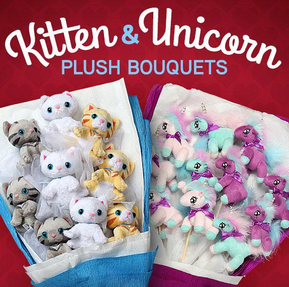 One kitten or unicorn is great, but a bouquet is magical! kitten ...