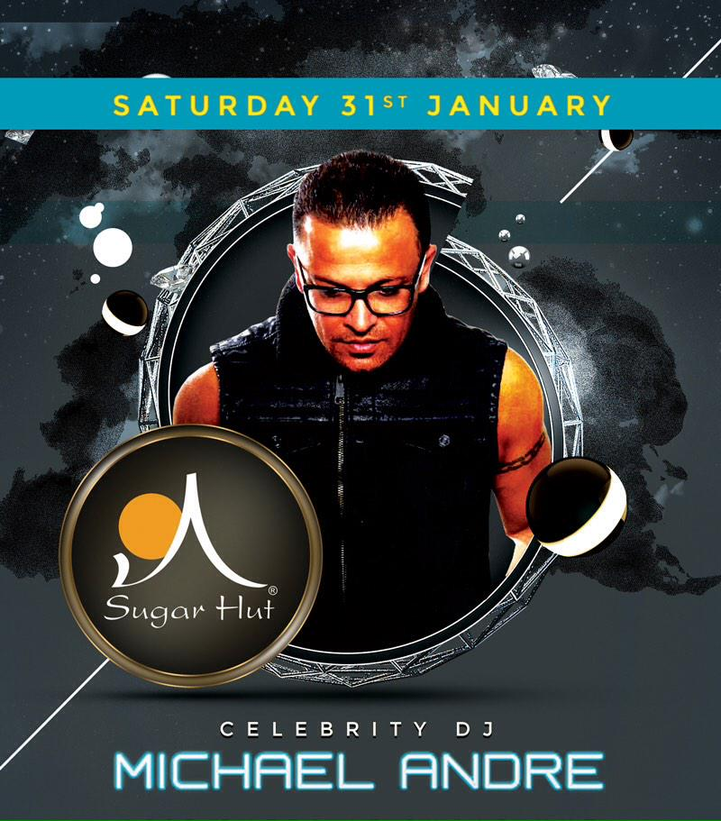This Saturday, we welcome the return of @mrmichaelandre to @sugarhut. http://t.co/eyCz84llwe
