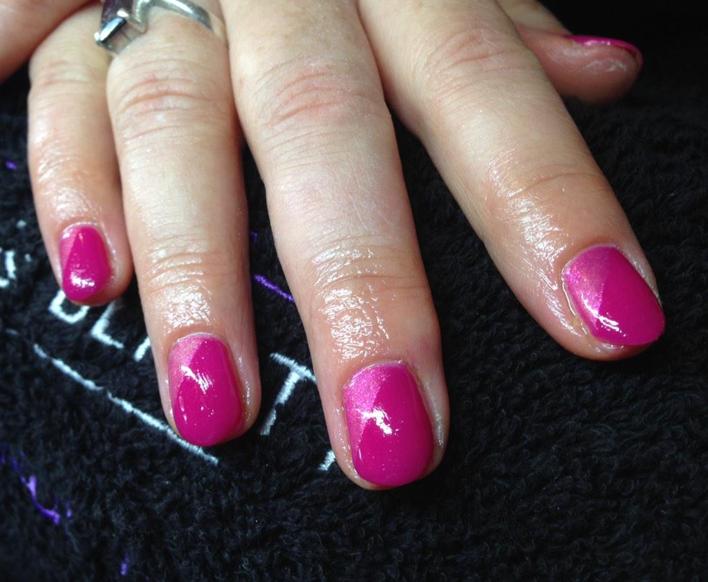 Lg Nails Beauty On Twitter Calgel Fuchsia Infusion With