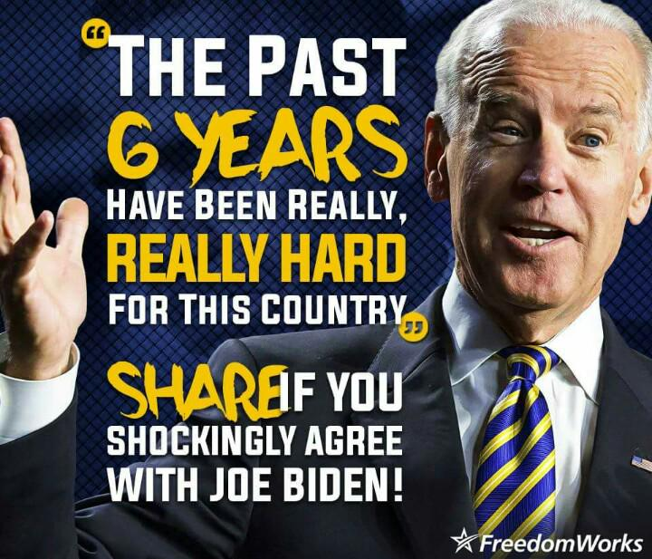 Biden speaks the truth: last six years really hard for this country