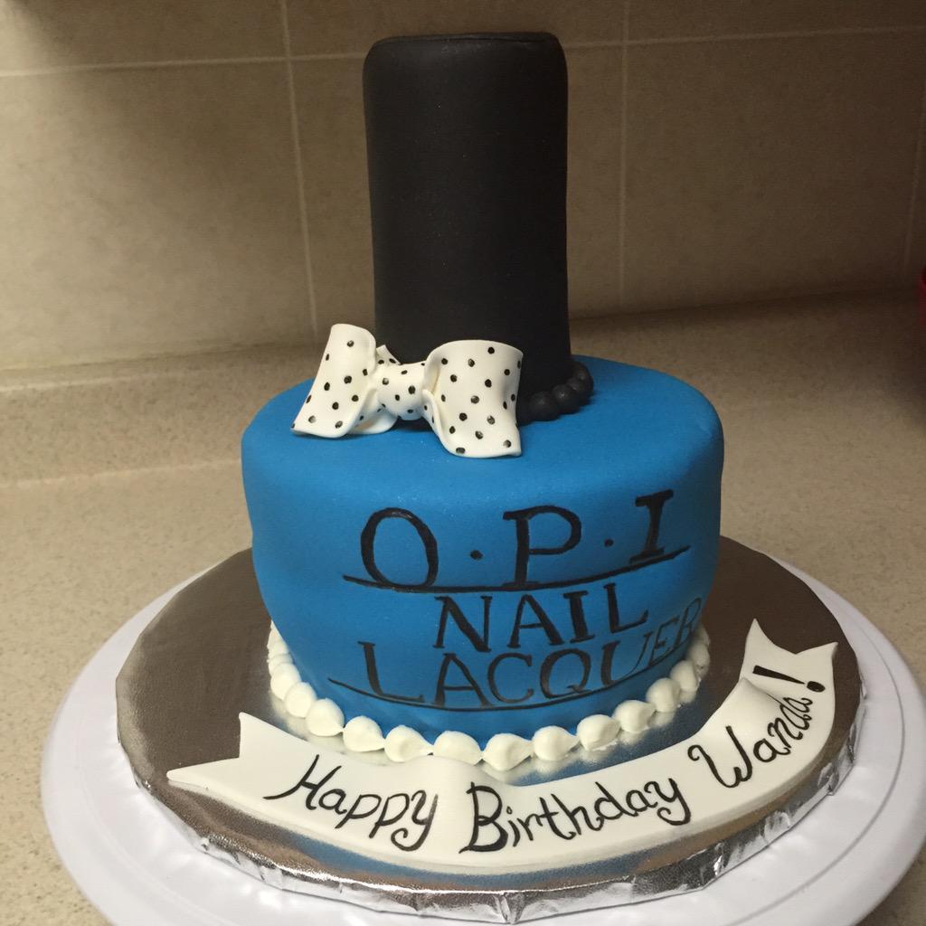 Superb Sherise Vargas On Twitter Opi Nail Polish Cake Cakesbysherise Funny Birthday Cards Online Inifodamsfinfo