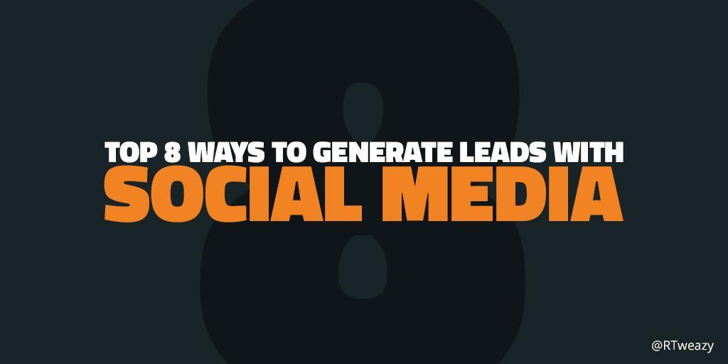 RT @RTweazy: Top 8 Ways to Generate Leads with #SocialMedia. http://t.co/Pe77B81zmw by @jorgensundberg via @SocialMediaLond http://t.co/Wsl…