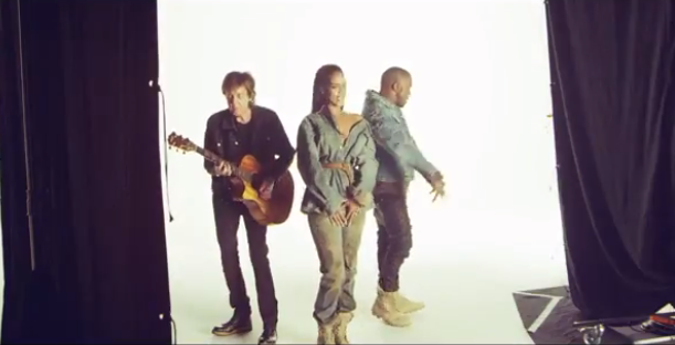 RT @GGNewMusic: Rihanna, Kanye West & Paul McCartney take us behind-the-scenes for #FourFiveSeconds http://t.co/EUt7OlfoAz http://t.co/VE93…