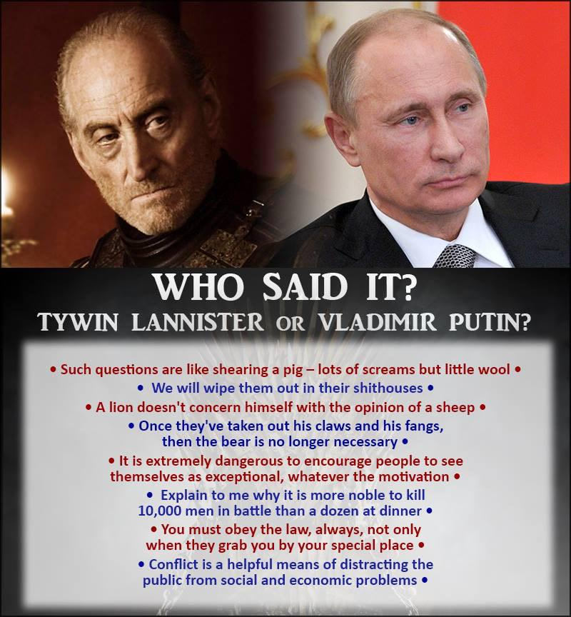 Hint: only 2 are from #GameofThrones (re: @DarthPutinKGB) http://t.co/y22CPQBHaF