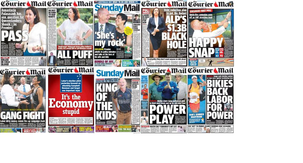 A gallery of @couriermail anti Annastacia pages, for some perspective. http://t.co/PO4sMjo1yV