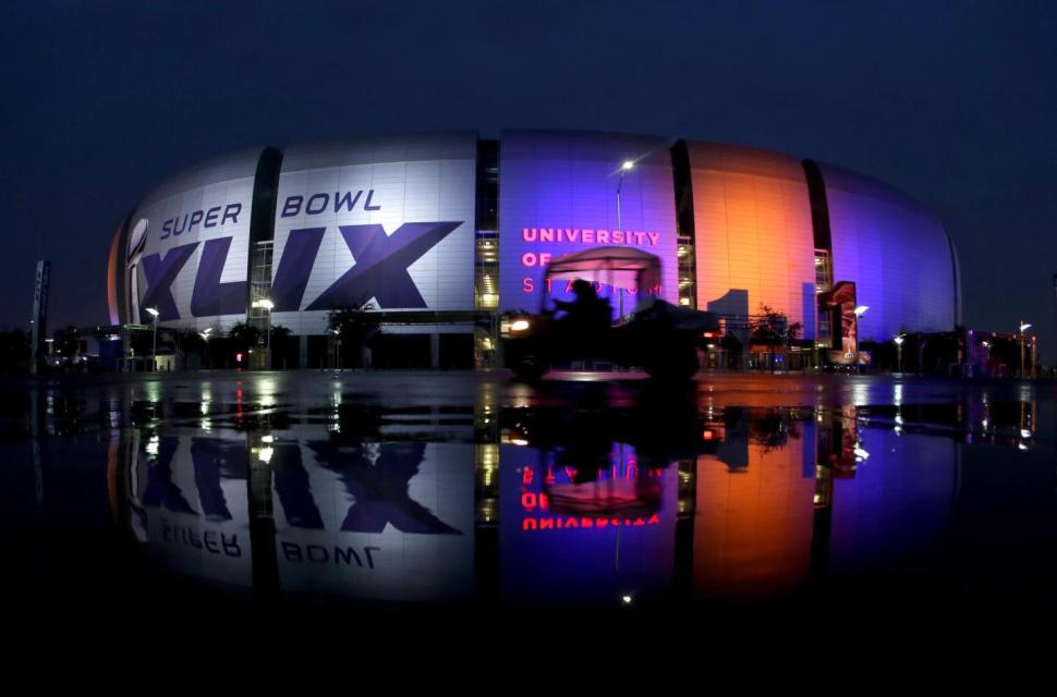 Glendale, Arizona. The site of Super Bowl 49. (@NYDNSports/Twitter)