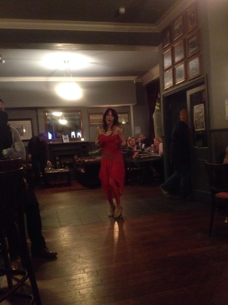 Saturday night down the local. Woman hoola hooping to Grace Jones http://t.co/QWZDWJxNdf