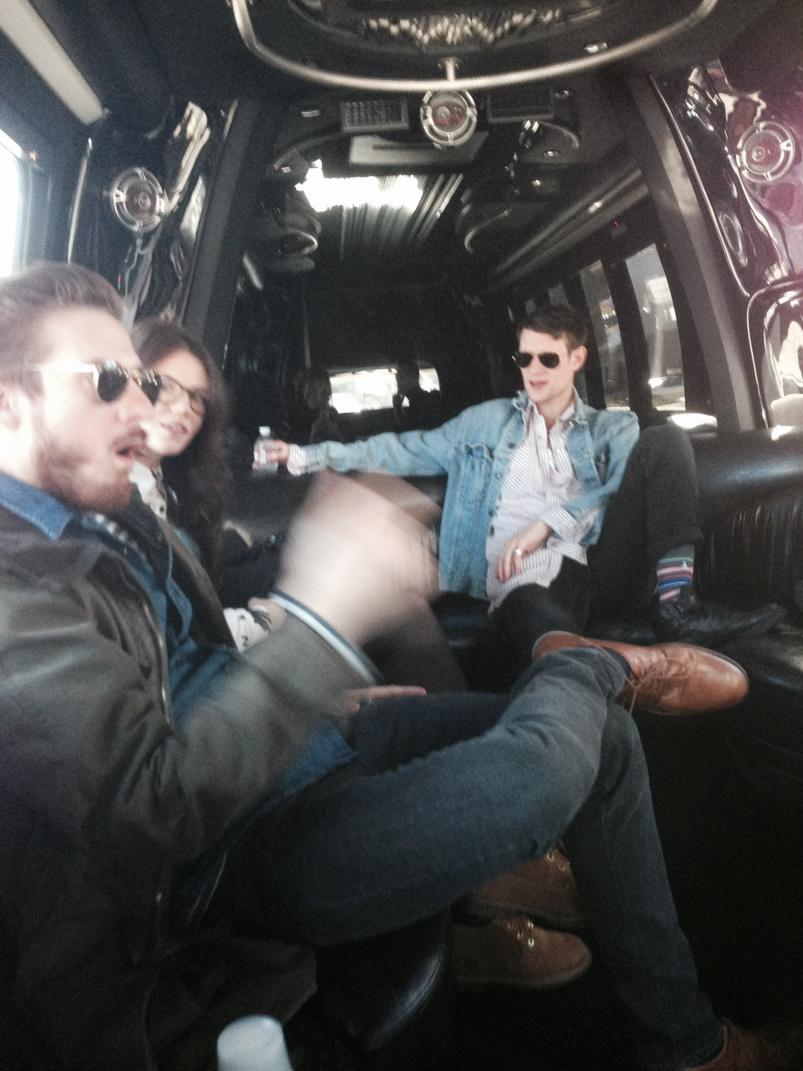 The Gang reunited! In a casual tour bus for no apparent reason... http://t.co/5xIDag0JSb