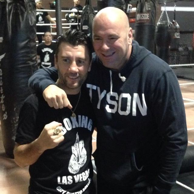 Need to give a shout out to @danawhite for showing up to my gym opening on such a busy day #UFC183. Thanks Dana! http://t.co/vcPmC83pog