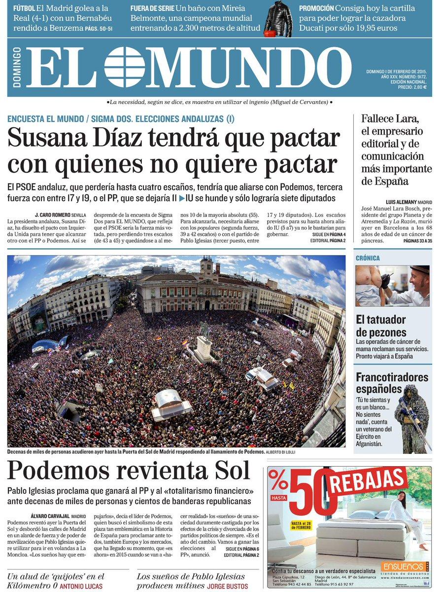 La portada de EL MUNDO de mañana http://t.co/KjPCKsq3vV