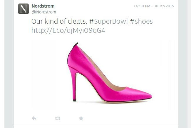 Brands like @nordstrom are tweeting the #SuperBowl right now -- Check out our brands-only feed http://t.co/o9w39eqAnM http://t.co/tkQ9CboP5V