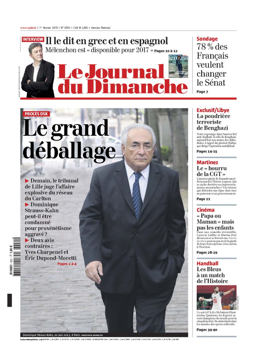 JDD Affaire DSK grand déballage Mélenchon dispo reportage