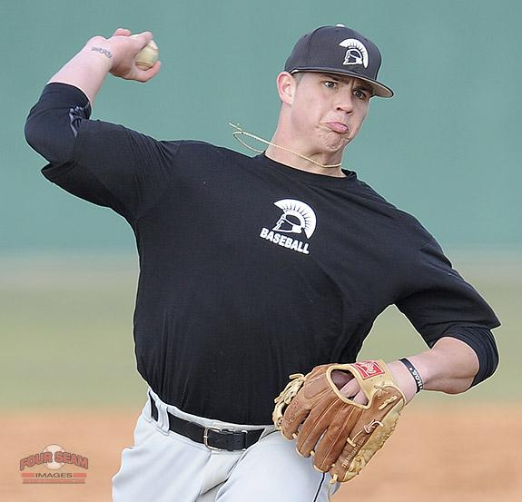 Pitcher Zach Krider (24) of USC Upstate @UPSTBSB delivers a pitch in today's intrasquad scrimmage. http://t.co/LslZlZwjCV