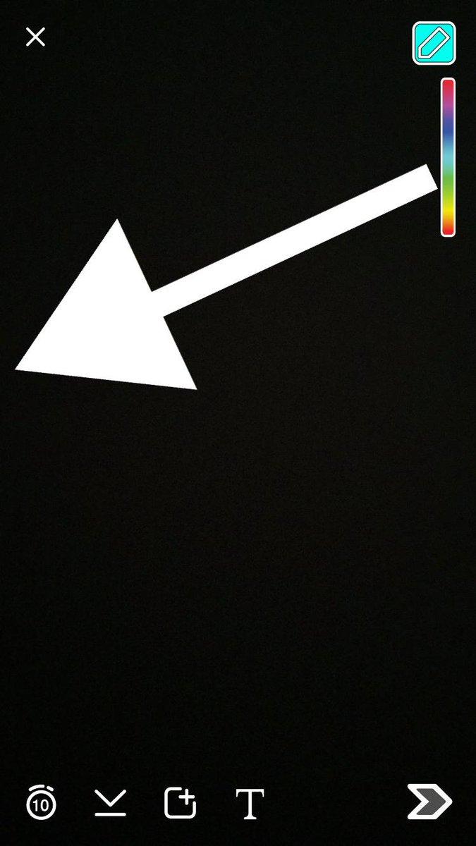 Abdulrahman Auf Twitter طريقة تغيير لون الخط الى اللون الابيض في السناب شات اسحب من وسط الالوان بيدك الى الحافة اليسرى في جهازك ويصير ابيض Http T Co L2sih5nm32