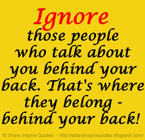 Share Inspire Quotes On Twitter Ignore Those People Who Talk
