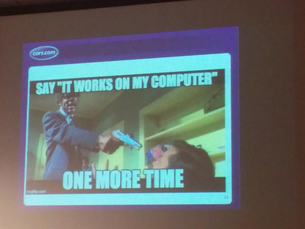 Works on my machine #testingfosdem #fosdem http://t.co/paylTqu5ju