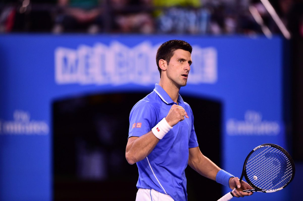 History maker: #Djokovic becomes the 2nd man to win FIVE #ausopen titles (Emerson, 6), beating Murray 7-6 6-7 6-3 6-0 http://t.co/EDzDoGrdx7