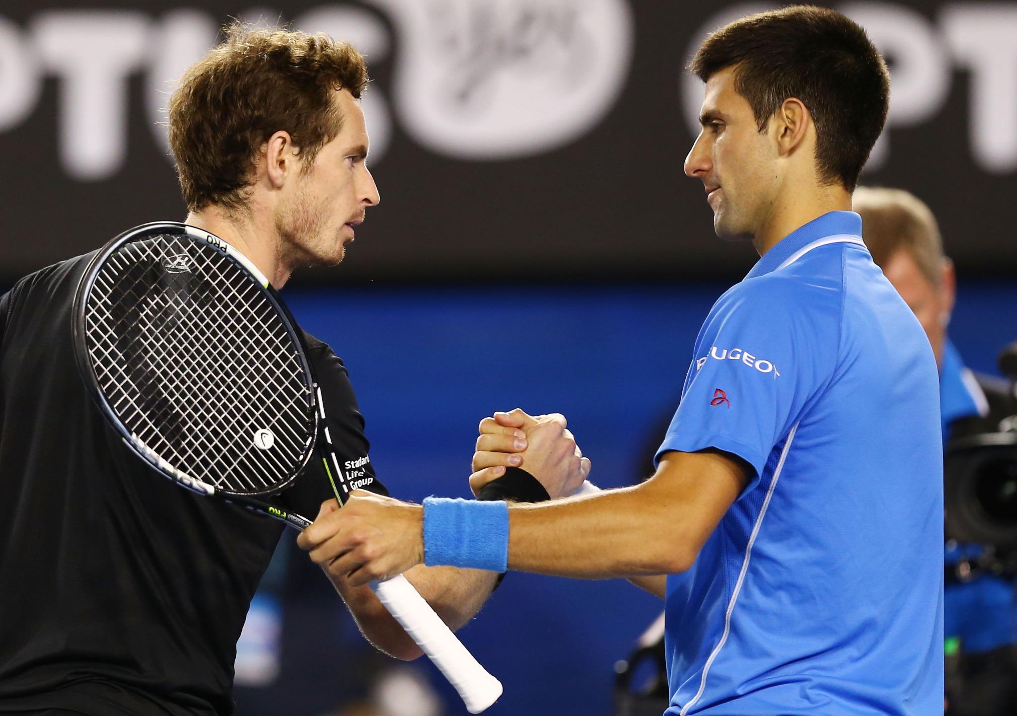 Djokovic saluda Murray - AO '15