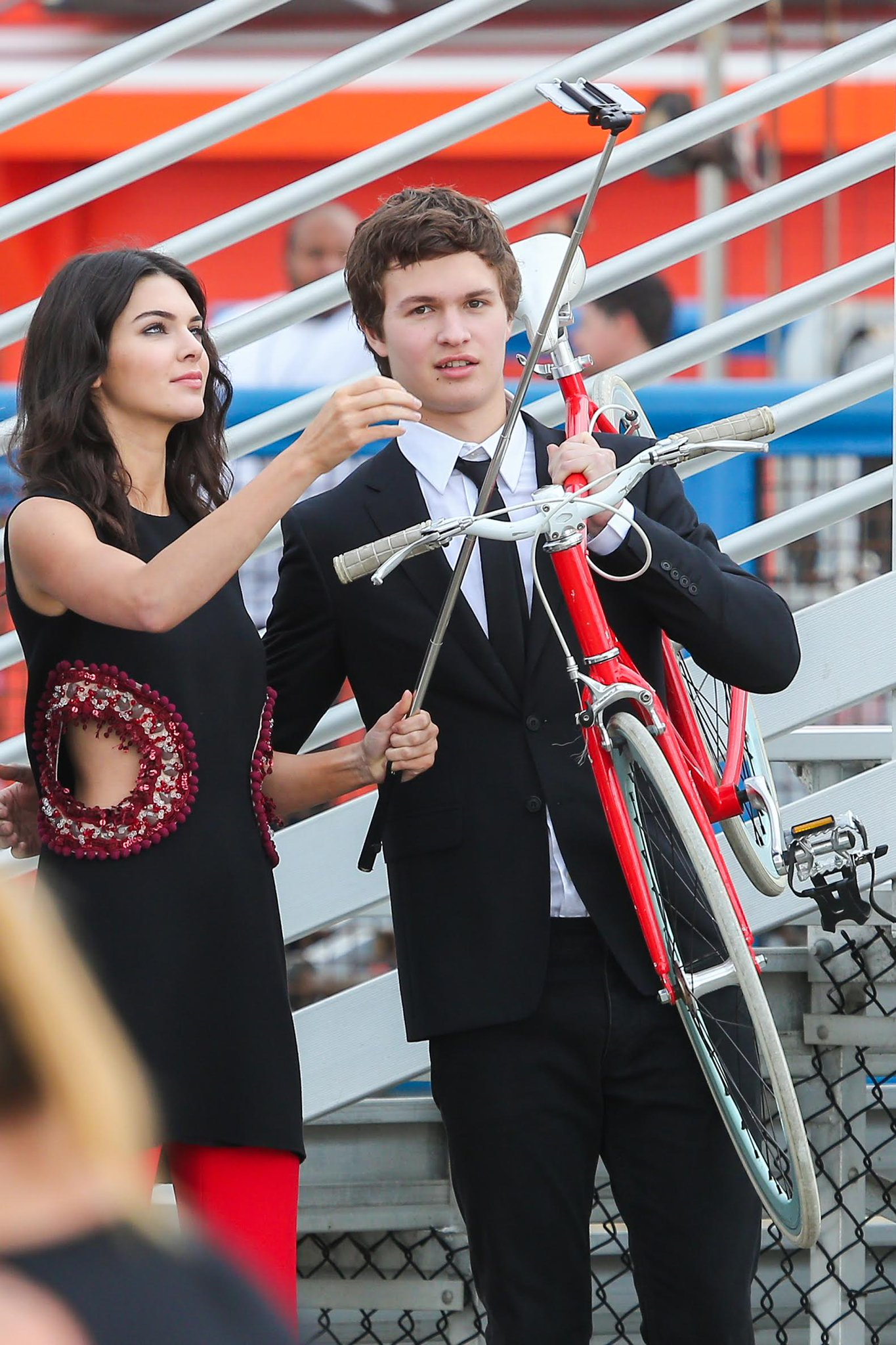 Kendall Jenner Wears Revealing Cut-Out Top, Parties with Ansel Elgort in Photo Shoot http://t.co/1HJkoCpMfg http://t.co/vwvvfUNl2F