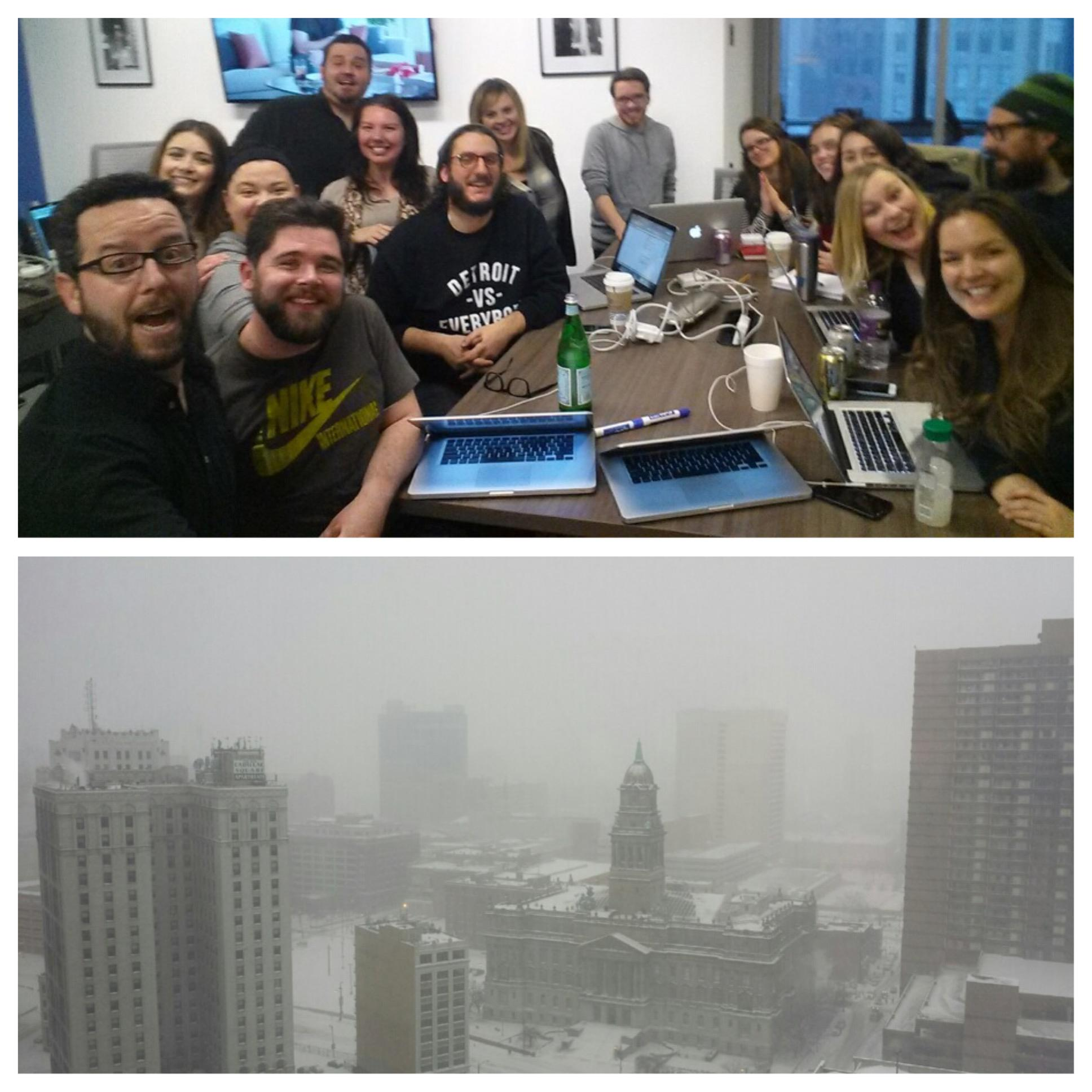 RT @jamerslb: @adage There's #snow place like #Detroit. @Chevrolet social media war room here! #SB49 http://t.co/L6LTkEXj61
