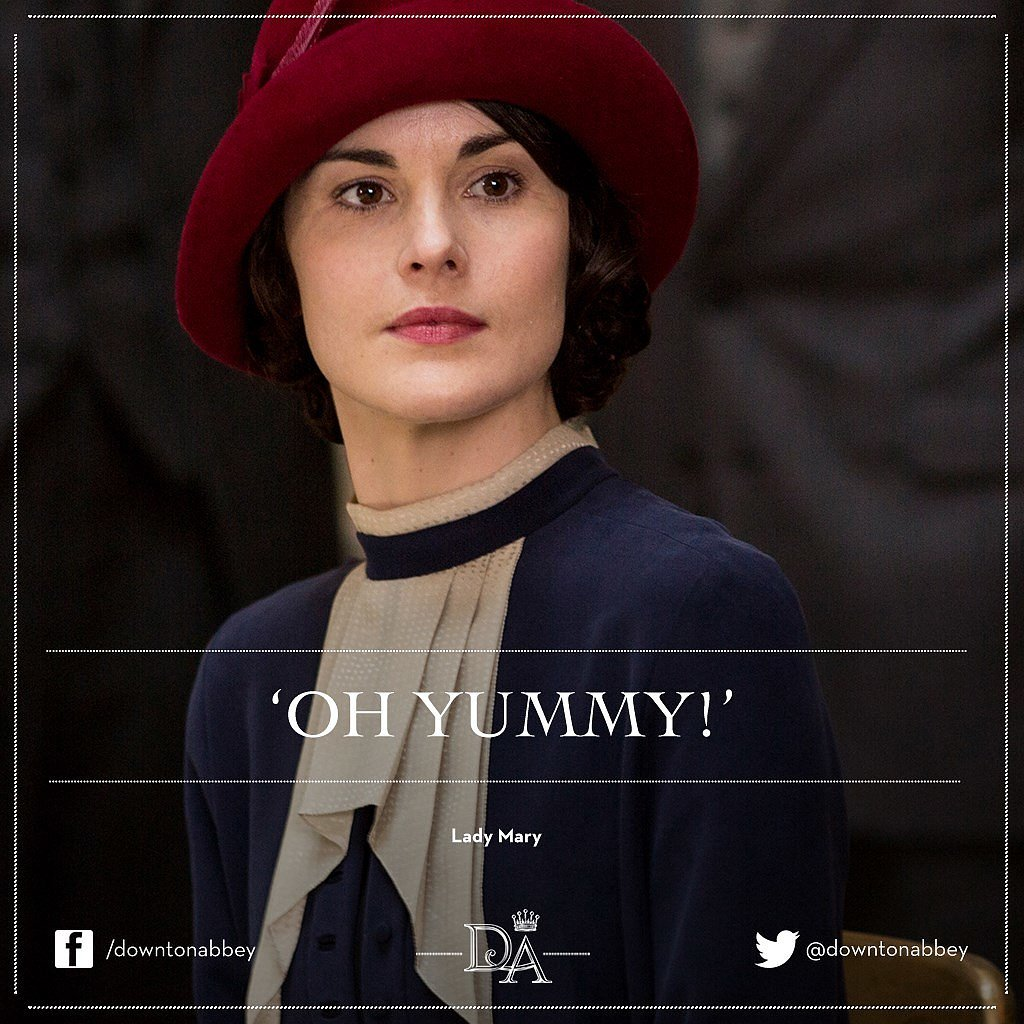 What Mary says at a dress show. Catch up with all the @DowntonAbbey fashion! http://t.co/HUvciXJ7s7 http://t.co/whBLpYeNms