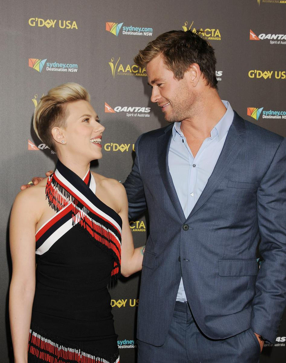 """Guess Who Scarlett Johansson Thinks Is """"Shockingly Handsome"""" http://t.co/lAXsgrZZAB http://t.co/JJkeDx6DbX"""