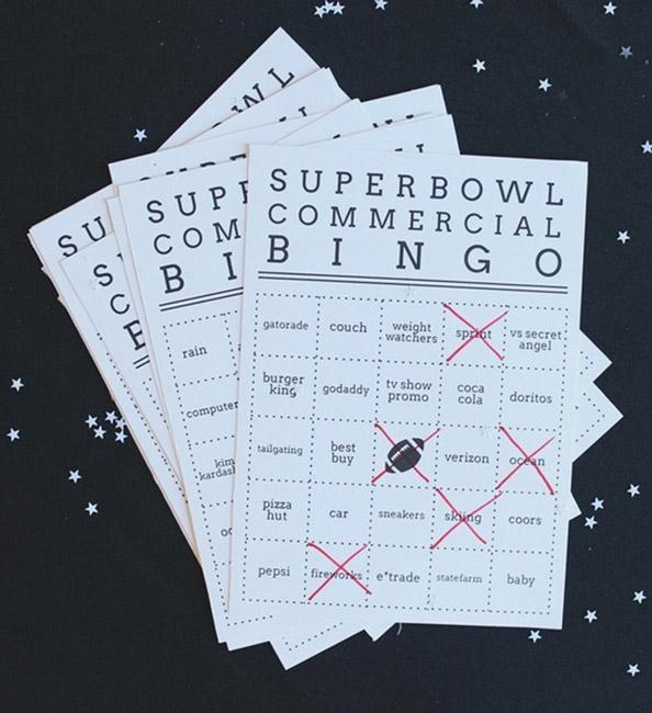 Get Competitive at your viewing party with #SuperBowl ad Bingo: http://t.co/AFsbswcb1i http://t.co/eF2X3GRVYD
