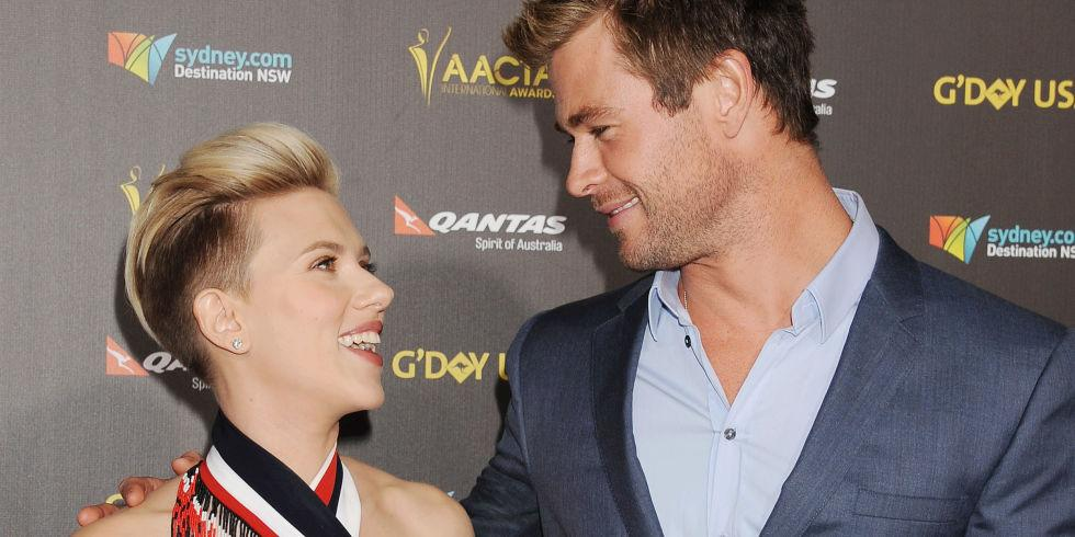 Scarlett Johansson's speech about Chris Hemsworth is accurate AF 😂 http://t.co/uuqoxt3cIR http://t.co/phqles1T1M