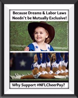 It's all #SB49 today but @NFL cheerleaders have been fighting all season for a living wage: change.org/NFLcheerleaders