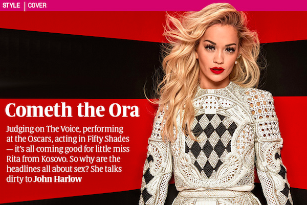 RT @thesundaytimes: Judging on The Voice, acting in #FiftyShades — it's all coming good for @RitaOra http://t.co/DuMQYGTh8x http://t.co/6mS…