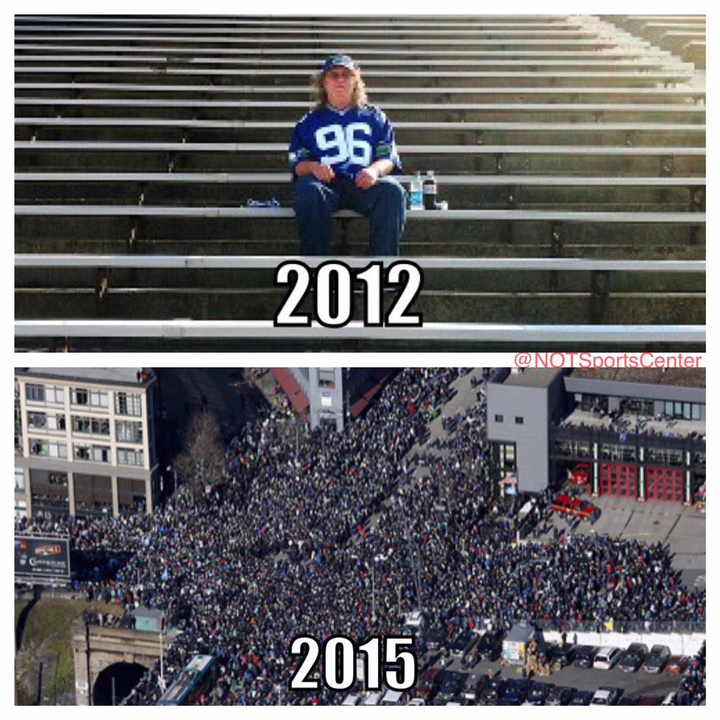It is unbelievable how the Seattle The #Seahawk fan base has grown quite a bit in the past few years