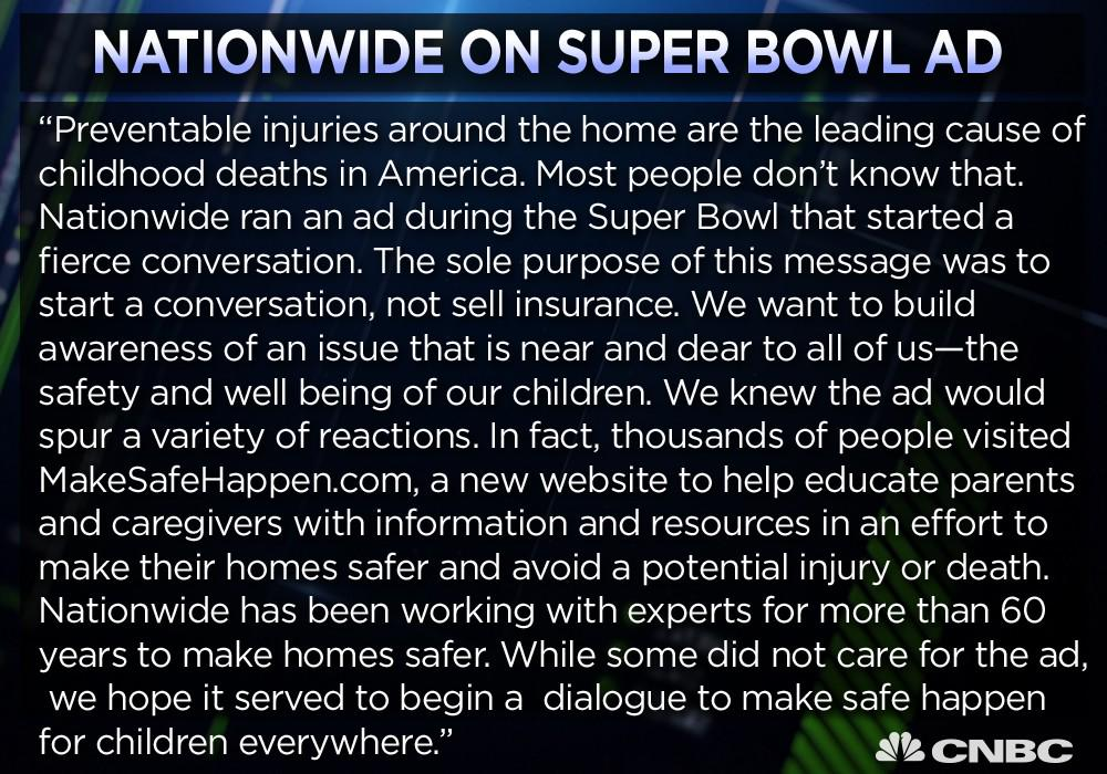 Nationwide has an explanation for its depressing Super Bowl ad: http://t.co/SH7Wpa6cMF http://t.co/3CtbtoIswd