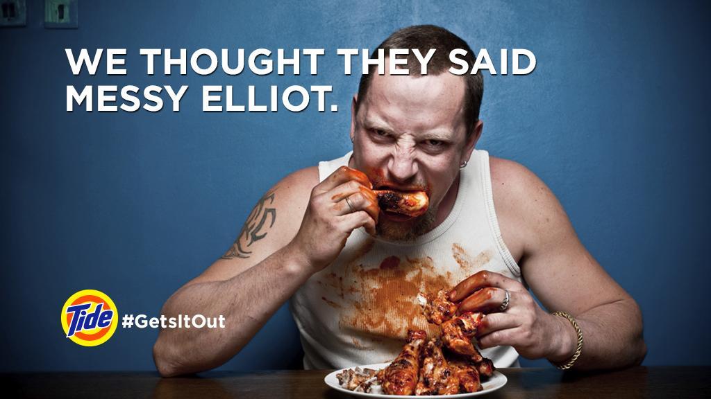 """@tide: We thought they said Messy Elliot. http://t.co/8CNzqAu9Z9"" @LynetteRadio @MrsMoNJ #brandbowl #AdBowl"