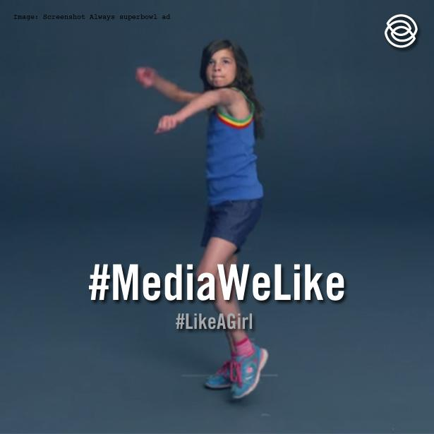 .@Always #SuperBowl ad combats limiting gender stereotypes. Now that's #MediaWeLike #LikeAGirl #3percentSB http://t.co/8KwXVMf6ZH