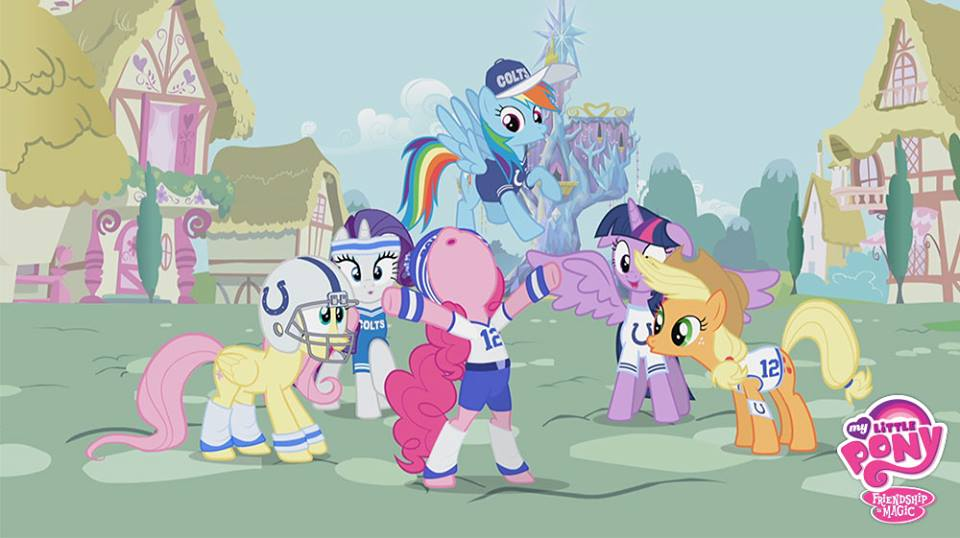 Is everypony having fun? I haven't been this excited since the Equestria Games! - Rainbow Dash #SuperBowlRally http://t.co/btnovDl9Oj