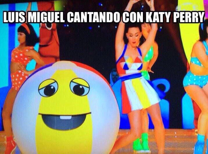 Luis Miguel cantando con Katy Perry