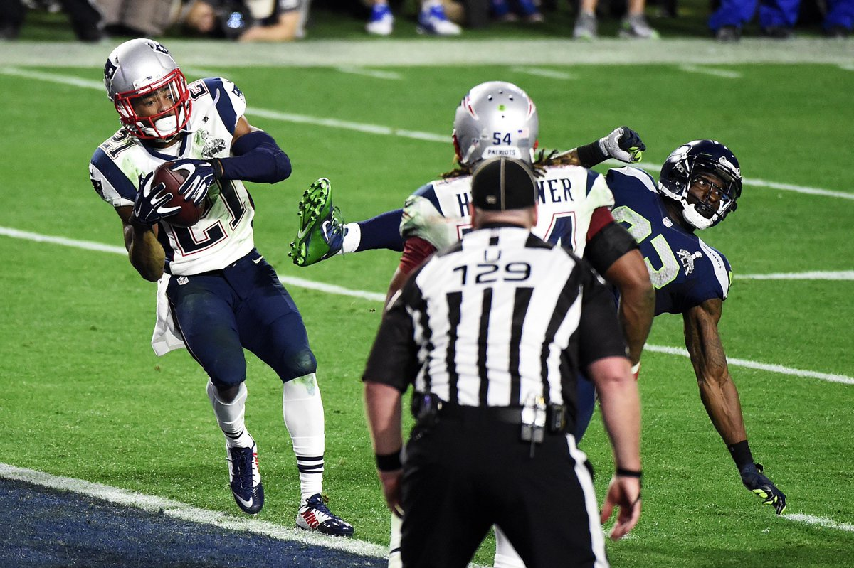 Malcolm Butler with the play that clinched Super Bowl XLIX.  Legendary. http://t.co/UQRUWqcYFR