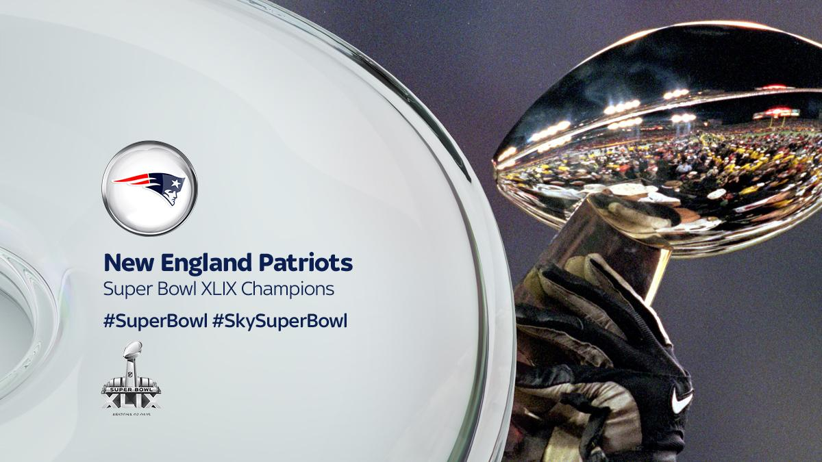 The New England Patriots are the #SB49 Champions! What a game! What a sport! #SkySuperBowl http://t.co/eJ9LtJk1XD