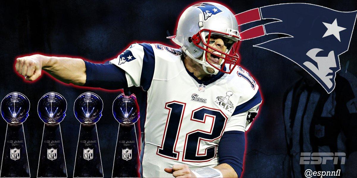 """ ESPNNFL  Tom Brady - 4x Super Bowl Champion!! pic.twitter.com nvTil84arc"" 4071c065e"