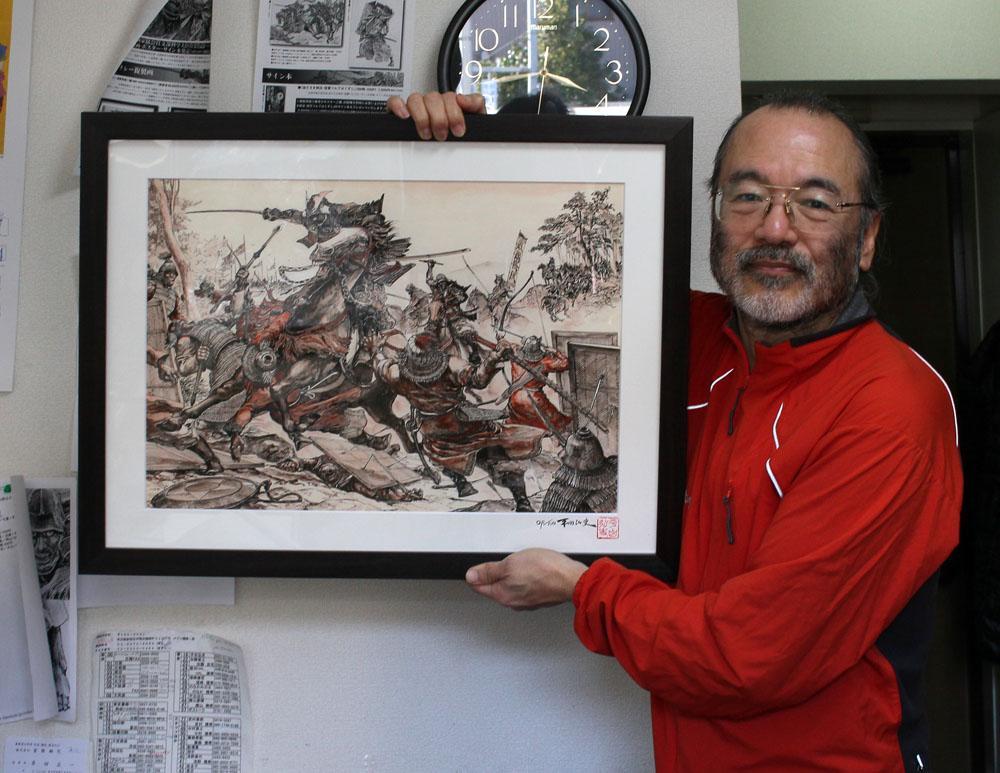 【全力で宣伝】僕の画集発売元ラピュータの平田弘史さんの複製原画とポスターが売れてないんだって。僕が尊敬する絵描きは生頼さん高荷さんたくさんいるけど劇画はこの人。大友さん『アキラ』の題字の人http://t.co/DLIv8jZUHT http://t.co/OVcPIBxQFD