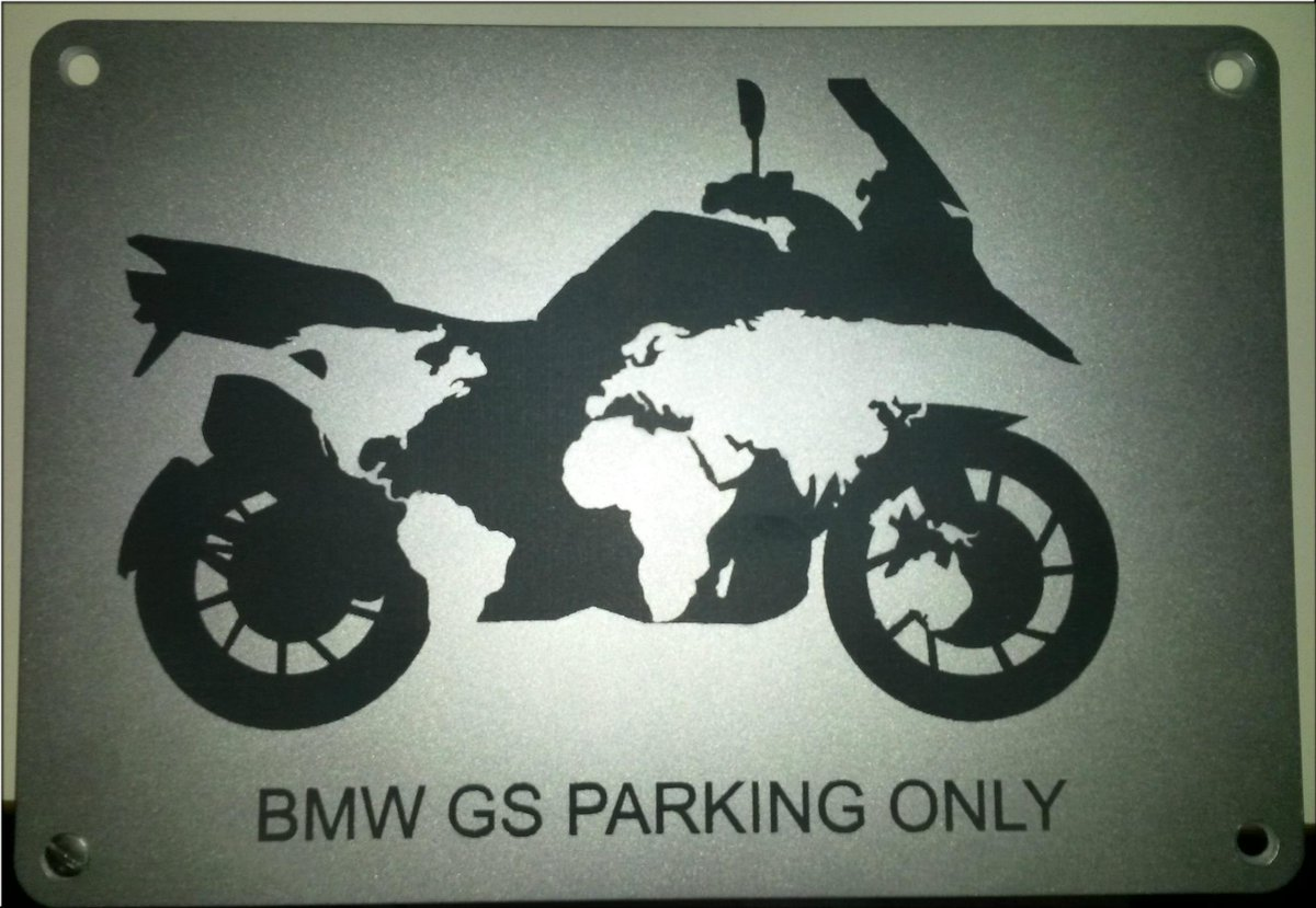 BMW Hornig On Twitter BMW GS Parking Only D Pic Httptco - Bmw parking only signs