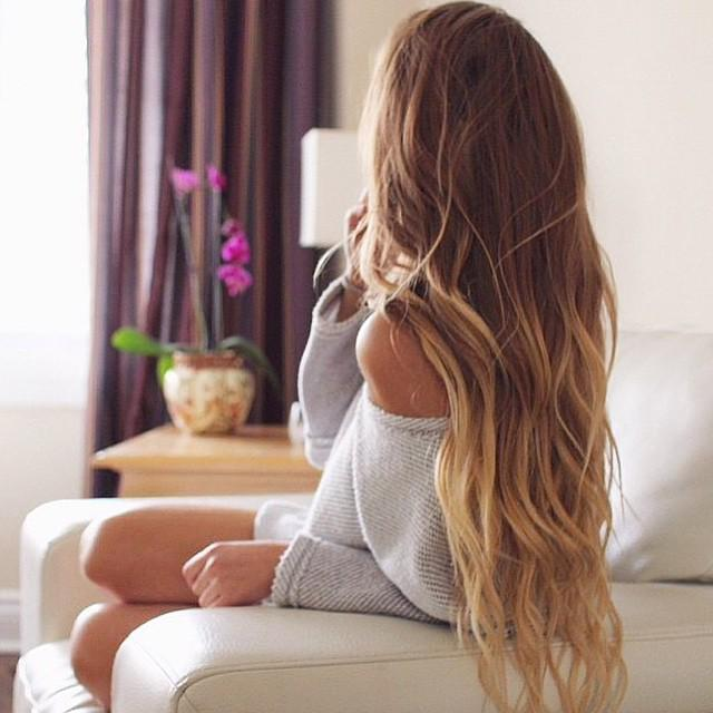 Фото девушек со спины русые волосы