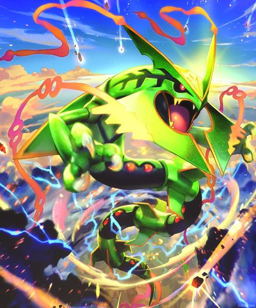 Pok 233 shopper on twitter quot official mega rayquaza tcg emerald break