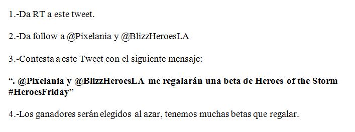 Nos quedan más betas de Heroes of the Storm, aquí la forma de ganar una: http://t.co/4esJFW341v